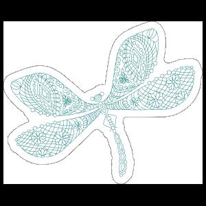 Line Art Dragonfly Sticker
