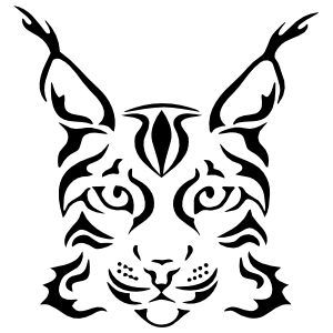 Lynx Head Sticker