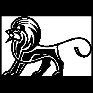 Aztec Lion Sticker