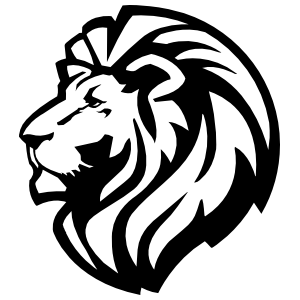 Triumphant Lion Head Sticker