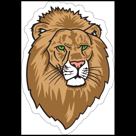 Lion Head Mascot Sticker