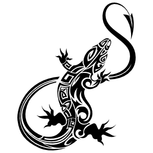 Lizard Gecko With Long Arrow Head Tail Sticker