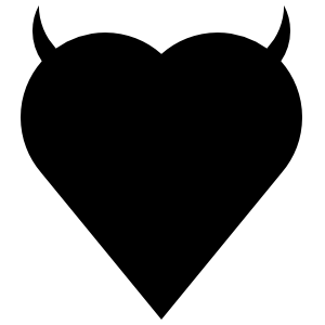 Long Devil Heart Sticker