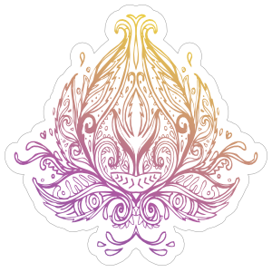 Lotus Flower Boho Sticker
