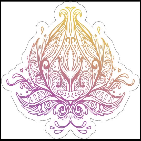 Lotus Flower Boho Sticker