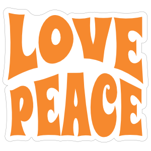 Love and Peace Hippie Sticker