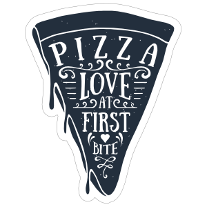 Love at First Bite Pizza Sticker