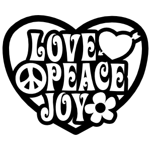 Love Peace Joy Heart Sticker