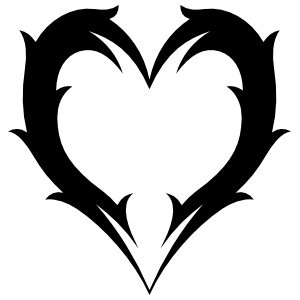 Lovely Feathered Heart Sticker