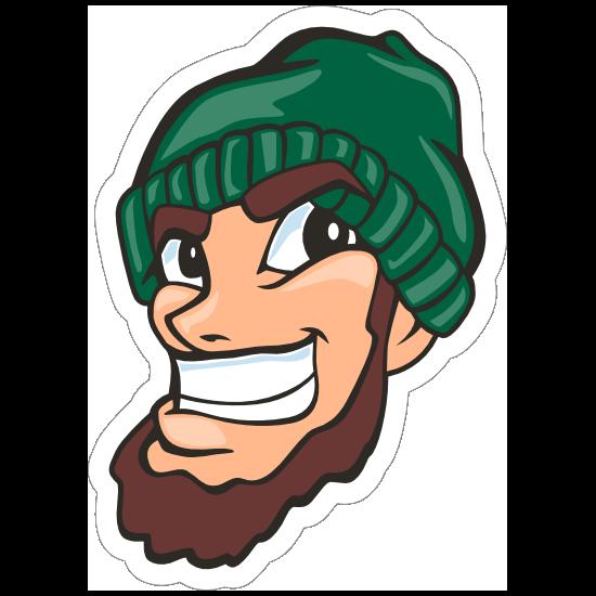 Lumberjack Mascot Sticker