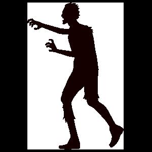 Lurching Zombie Sticker