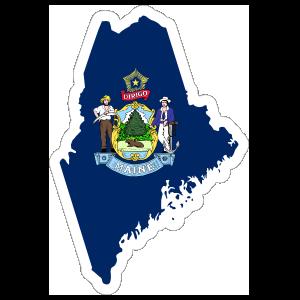 Maine Flag State Sticker