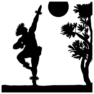 Male Hula Dancer Sticker