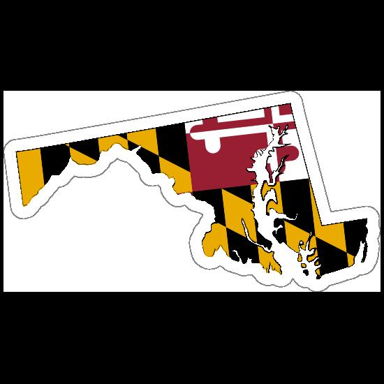 Maryland Flag State Sticker