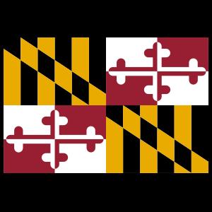 Maryland Md State Flag Sticker