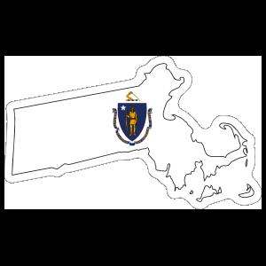 Massachusetts Flag State Sticker