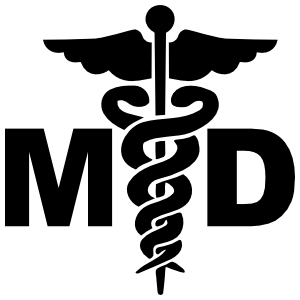 Medical Doctor Hospital Sign Md Symbol Sticker