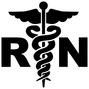 Medical Registered Nurse Hospital Sign Rn Symbol Sticker