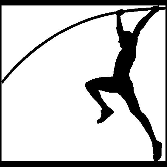 Men's Pole Vaulter Sticker