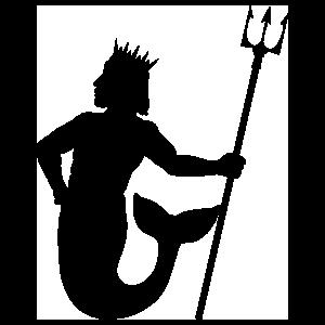Merman Holding A Trident Sticker