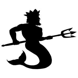Merman King With Trident Sticker