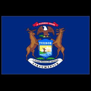 Michigan Mi State Flag Sticker