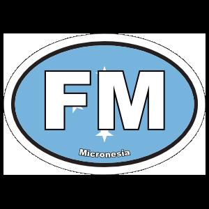Micronesia Flag Oval Sticker