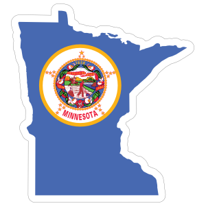 Minnesota Flag State Sticker