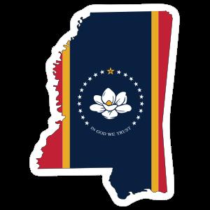 Mississippi Flag State Sticker