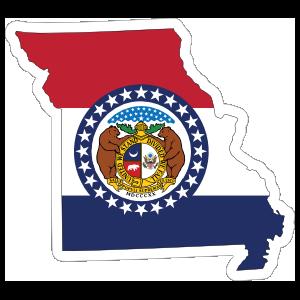 Missouri Flag State Sticker