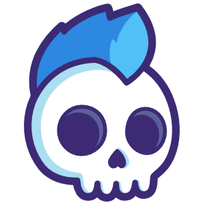 Mohawk Skull Sticker