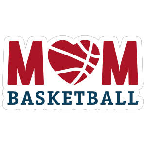 Mom Basketball Sticker