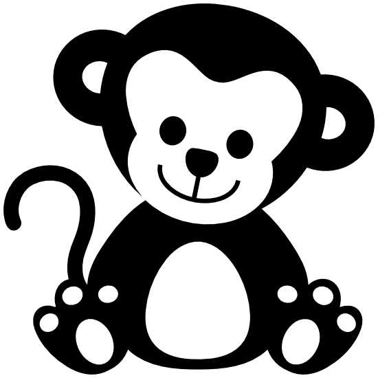 Adorable Baby Monkey Sticker