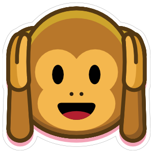 Monkey Hear No Evil Emoji Sticker