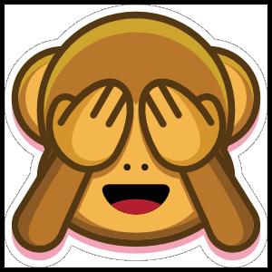 Monkey See No Evil Emoji Sticker