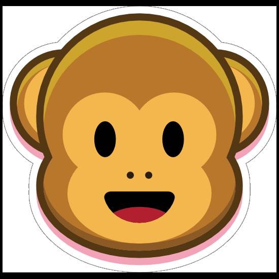 Monkey Smiling Emoji Sticker