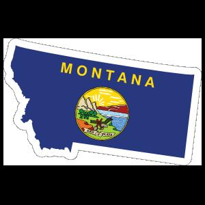 Montana Flag State Sticker