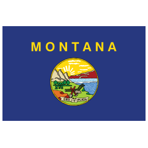 Montana Mt State Flag Magnet
