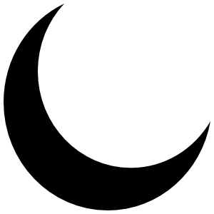 Simple Crescent Moon Sticker