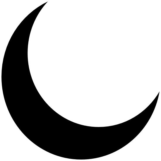 Vinyl Sticker Decal full color Moon Planetary symbol