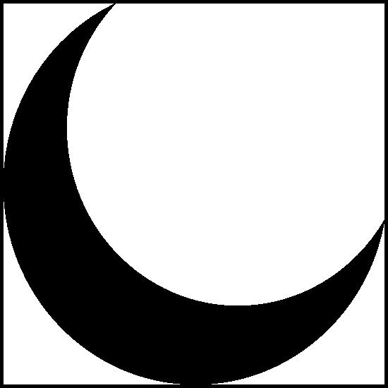 Simple Crescent Moon Sticker