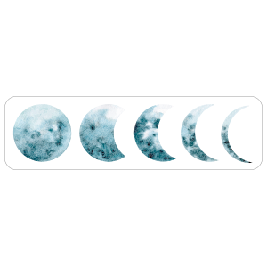 Moon Cycle Car Decal Lunar Cycle Astronomy Decal Moon Etsy Hogwarts Honor Student Moon Decal