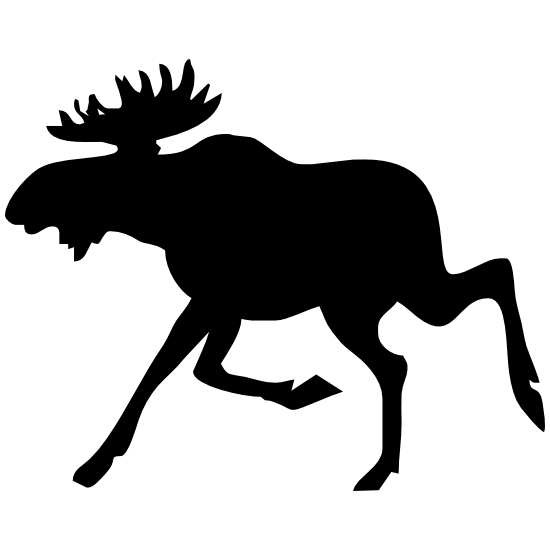 Silly Running Moose Sticker