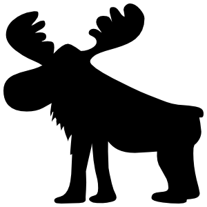 Silly Moose Sticker
