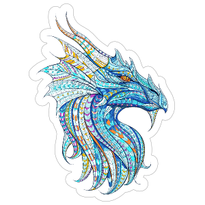 Mosaic Dragon Sticker