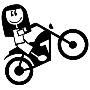 Motorcycle Girl Family Sticker