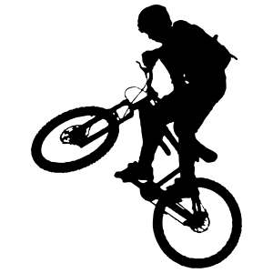 Mountain Biker Doing Tricks Sticker