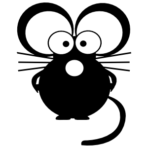 Siily Scared Mouse Sticker