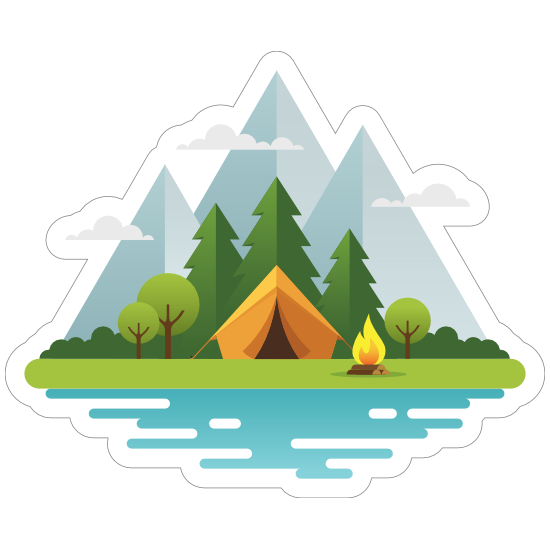 Moutain Camping Sticker