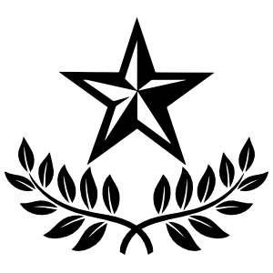 Nautical Star With Leaf Border Sticker
